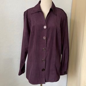 DressBarn Purple Button Down Long Sleeve Shirt